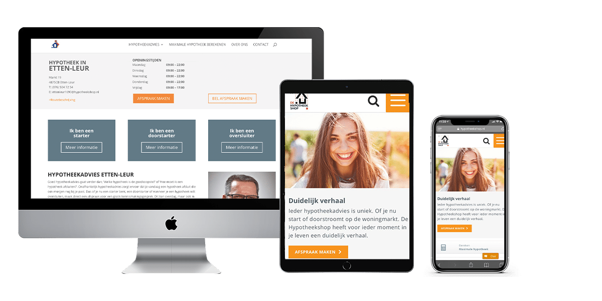 Homepage hypotheekshop